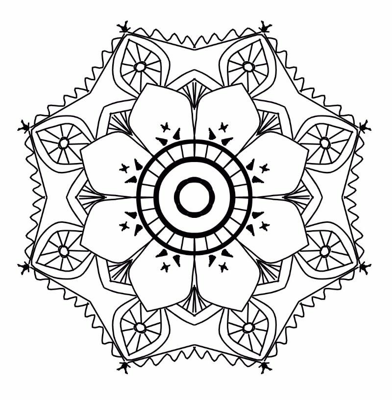 flower shaped mandala