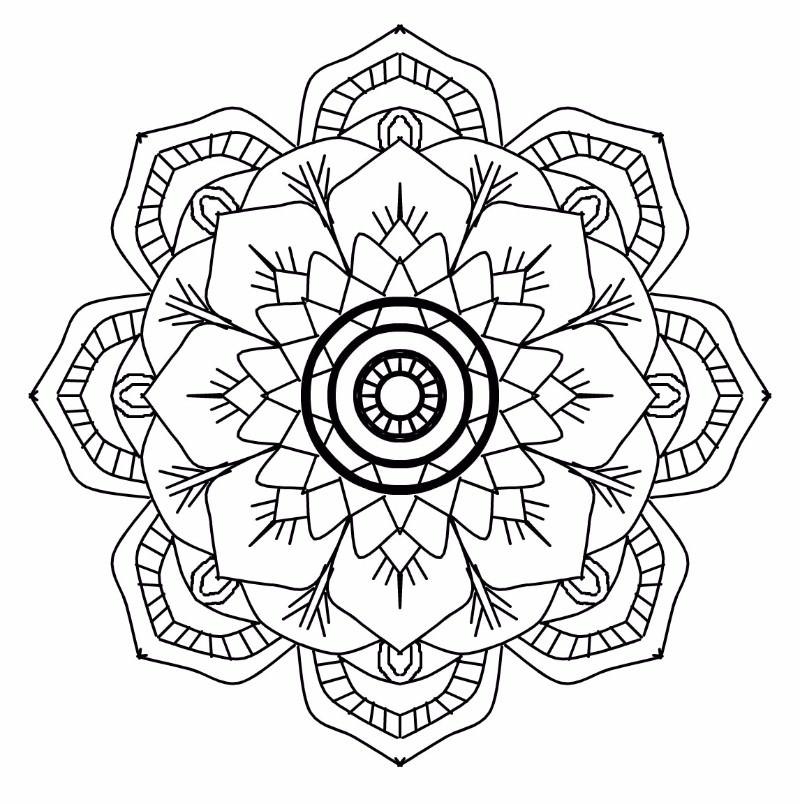 flower from mandala